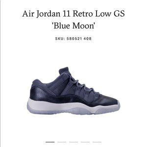 a04396b1c0cd50 Jordan Shoes - Jordans 11 s low gs blue moons 🌙🌙🌙